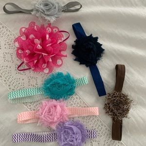 Other - Fabric flower baby/toddler headbands